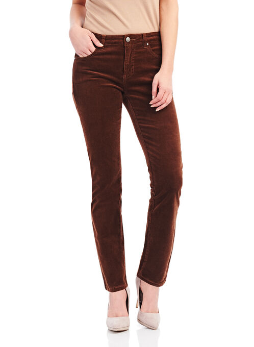 Simon Chang Straight Leg Pants , Brown, hi-res