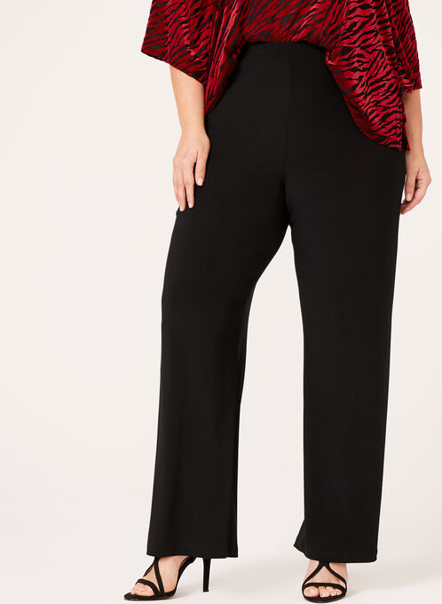 Frank Lyman Slim Leg Pants, Black, hi-res