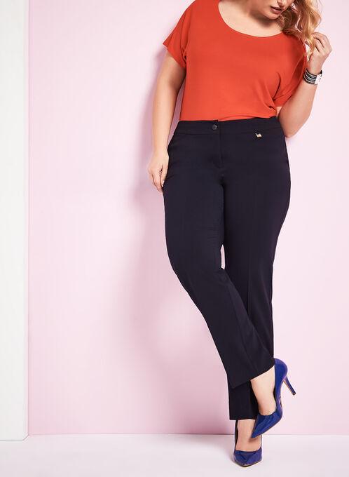 Tummy Control Straight Leg Pants, Blue, hi-res