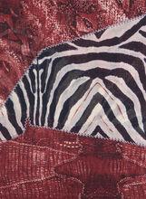 Patchwork Print Oblong Scarf, Red, hi-res