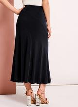 Solid Knit Skirt, Blue, hi-res