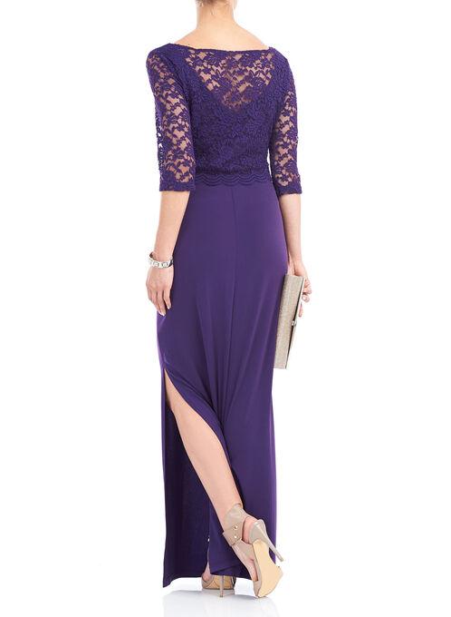 Lace Popover Gown, Purple, hi-res