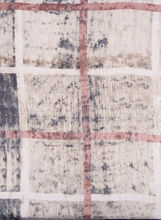 Plaid Print Oblong Scarf, Grey, hi-res