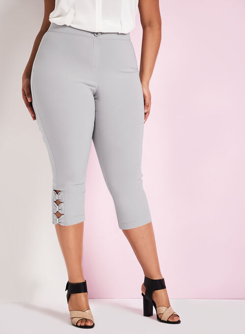 City Fit Straight Leg Capris, Silver, hi-res