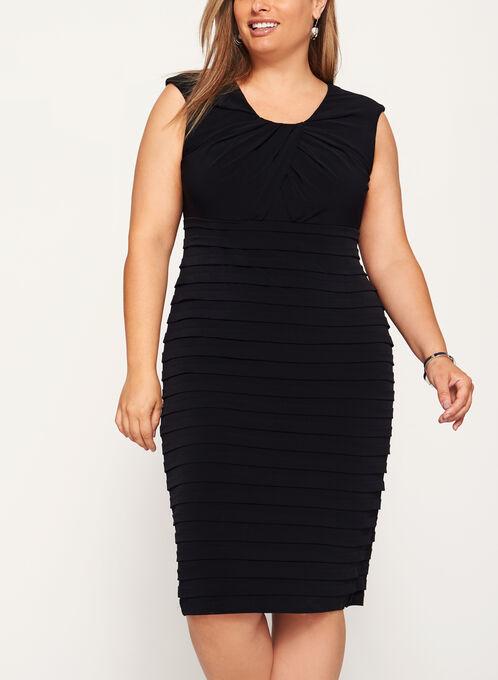 Jersey Shutter Tuck Dress