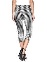 Linea Domani Gingham Print Capri Pants , Black, hi-res