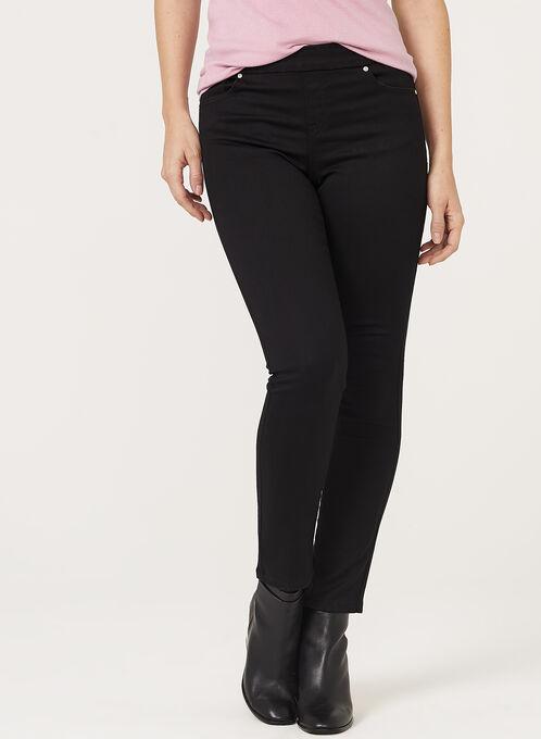Pull-On Slim Leg Jeans, Black, hi-res