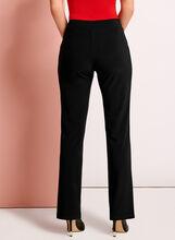 Straight Leg Pull-On Pants, Black, hi-res