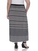 Stripe Print Maxi Skirt, Black, hi-res