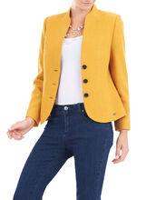 Wool Blend Panel Detail Jacket, Yellow, hi-res