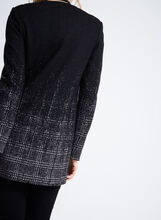 Gradient Glen Plaid Collarless Jacket, Grey, hi-res