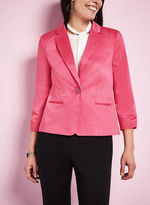 Single Button Blazer, Pink, hi-res