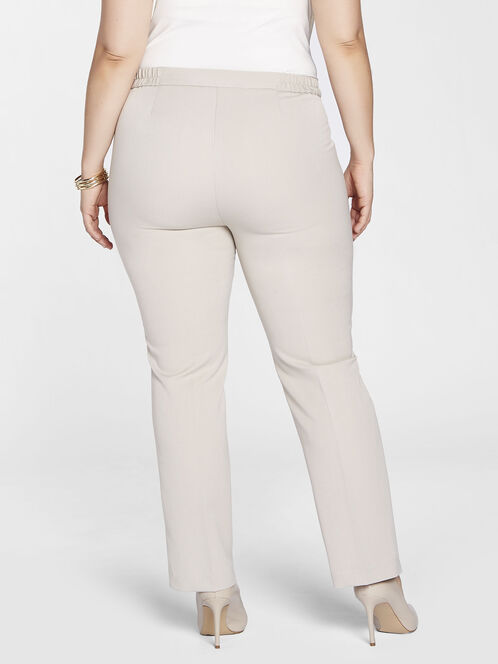 Straight Leg Faux Pocket Pant, Off White, hi-res