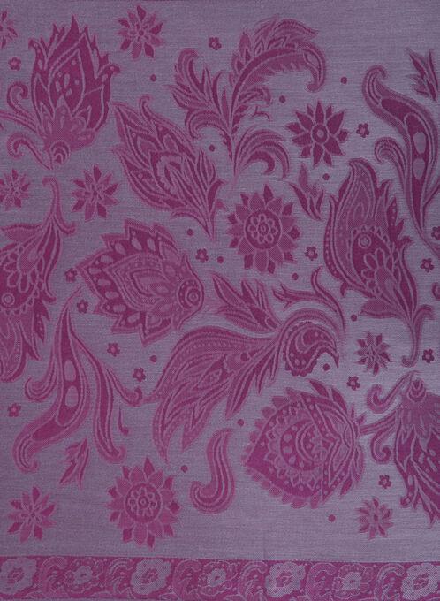Jacquard Printed Pashmina Scarf , Purple, hi-res