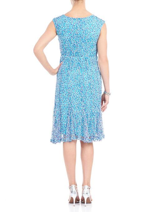 Sleeveless Knit Midi Dress, Blue, hi-res