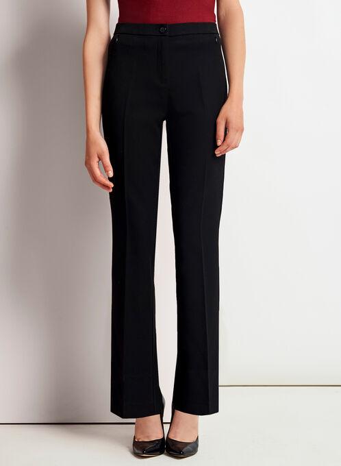 Tummy Control Straight Leg Pants, Black, hi-res