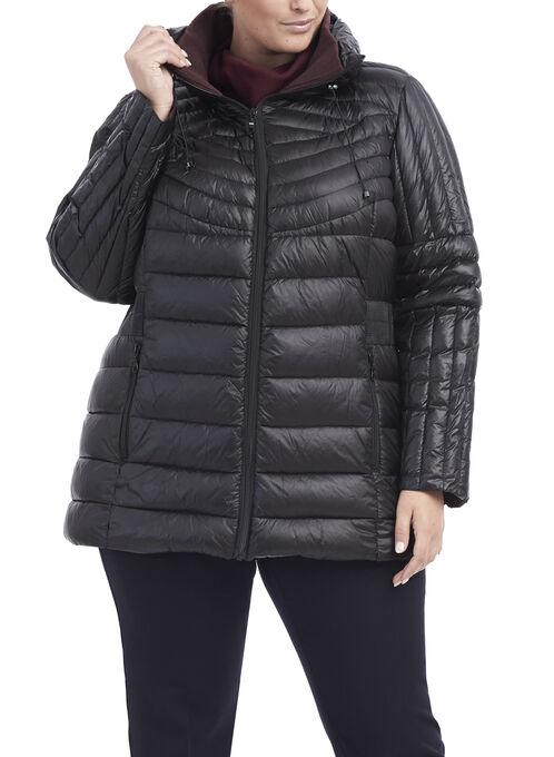 B by Bernardo Packable Jacket, Black, hi-res