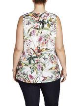 Tropical Print Sleeveless Blouse, Multi, hi-res
