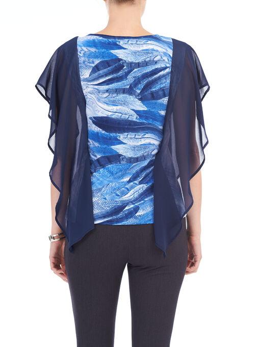 Short Sleeve top Cut & Sew, Blue, hi-res