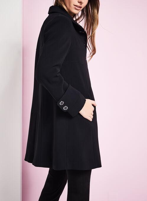 Triple Empire Stitch Coat, Black, hi-res