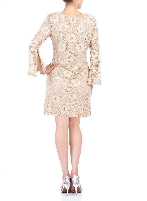 Short Lace Shift Dress, Off White, hi-res