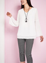 Bell Sleeve Popover Blouse, , hi-res