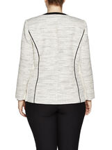 Contrast Trim Corded Jacket, Black, hi-res
