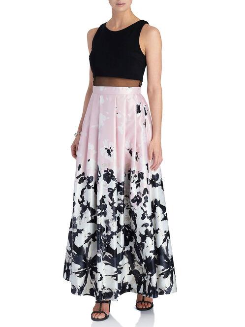 Sleeveless Mesh Popover Dress, Black, hi-res