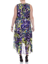 Sleeveless Beaded Cleo Neck Dress, Purple, hi-res
