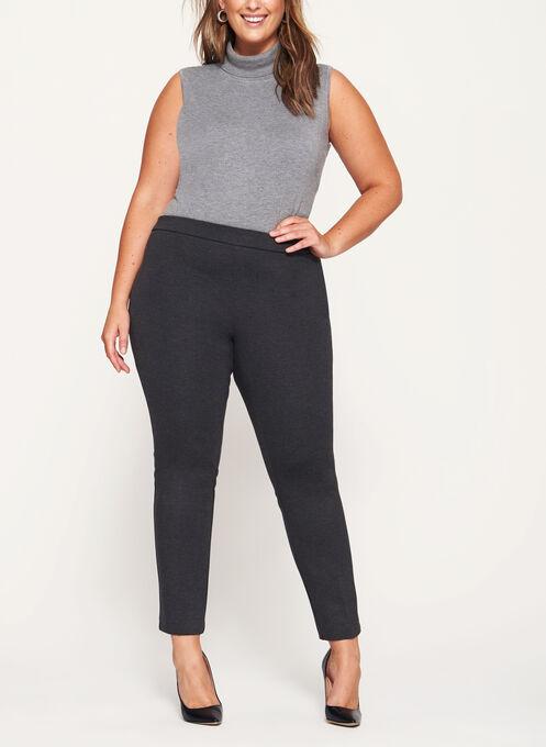 Pull-On Slim Leg Pants, Grey, hi-res
