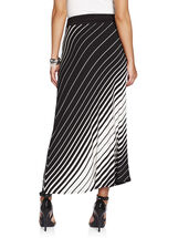 Stripe Print A-Line Maxi Skirt, Black, hi-res