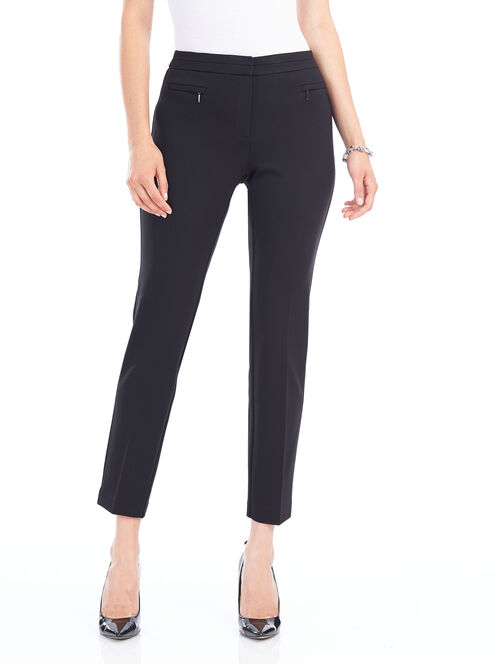 Straight Leg Pants, Black, hi-res