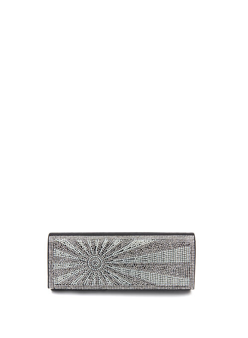 Crystal & Pearl Embellished Clutch, Off White, hi-res