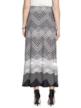 Border Diamond Print Maxi Skirt, Black, hi-res