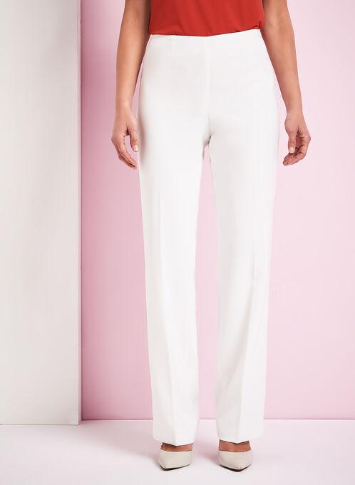 Modern Fit Straight Leg Pants, Off White, hi-res