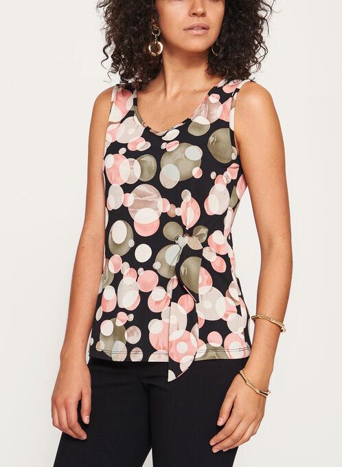 Bubble Print Sleeveless Jersey Top, Black, hi-res