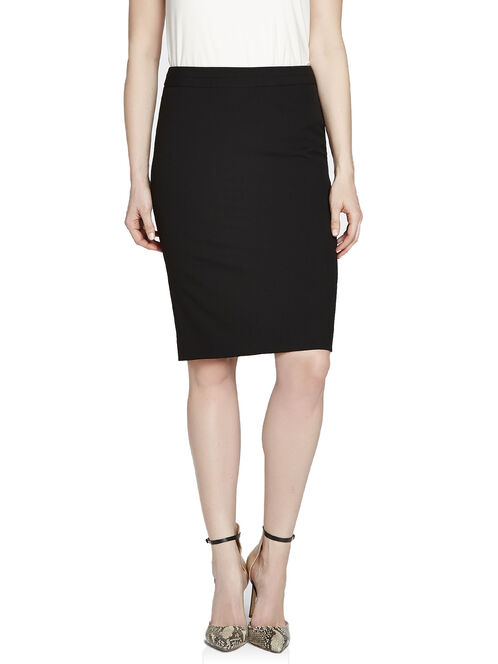 Stretch Pencil Skirt, Black, hi-res