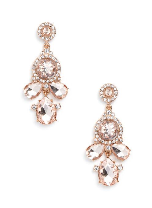 Teardrop Chandelier Earrings , Off White, hi-res