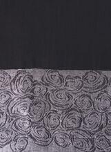 Printed Shimmer Detail Pashmina Scarf, Black, hi-res