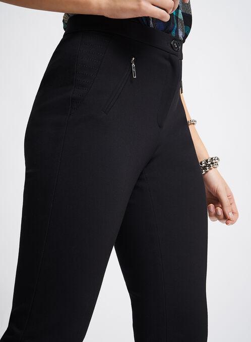 Signature Trapunto Straight Leg Pants, Black, hi-res