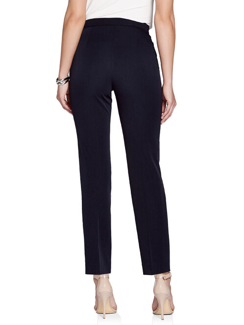 Signature Fit Pintuck Detail Straight Leg Ankle Pants, Blue, hi-res