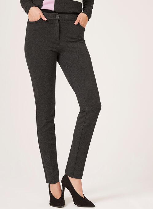 Modern Fit Slim Leg Pants, Grey, hi-res