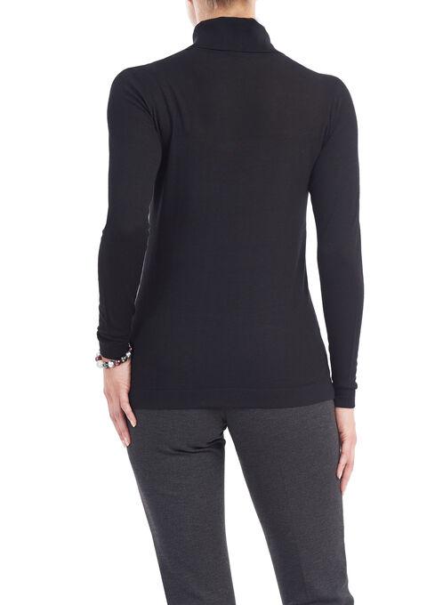 Long Sleeve Turtleneck Sweater, Black, hi-res
