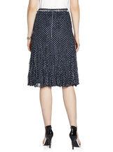 Polka Dot Lace Chain Belt Skirt, Blue, hi-res
