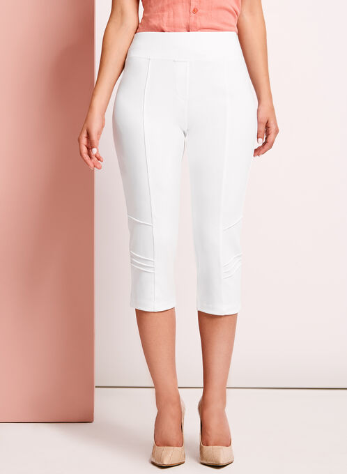 Picadilly - Pull-On Capri Pants, White, hi-res