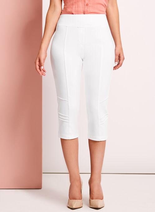 Picadilly - Pull-On Capri Pants, White, hi-res