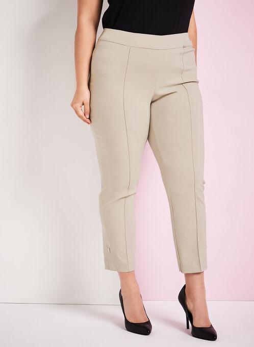 7/8 Bengaline Slim Leg Pants, Grey, hi-res