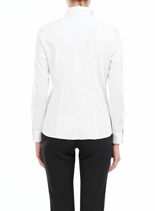 Long Sleeve Blouse, White, hi-res