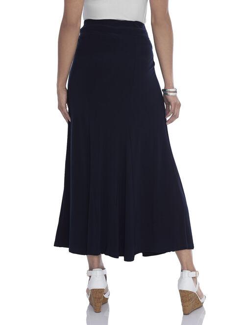 Panelled Detail Maxi Skirt , Blue, hi-res