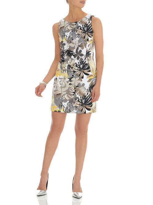 Floral Print Sheath Dress, Yellow, hi-res